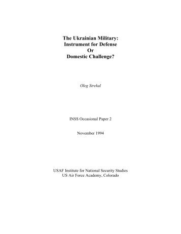 Occasional Paper #2 - United States Air Force Academy