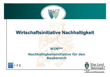 Nachhaltigkeitsinitiative im Baubereich - WIN