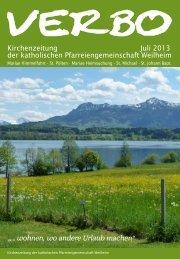 Kirchenzeitung Juli 2013 der katholischen Pfarreiengemeinschaft ...