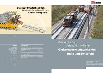 Gleiserneuernung zwischen Halle und Bitterfeld Download pdf