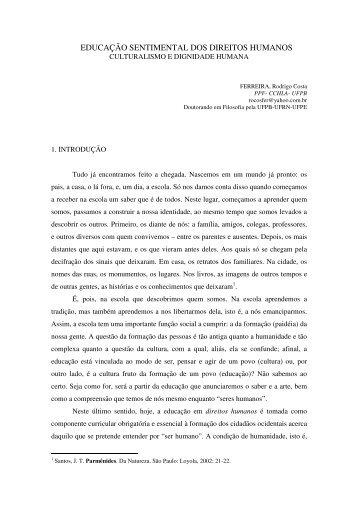 educação sentimental dos direitos humanos - Catedraunescoeja