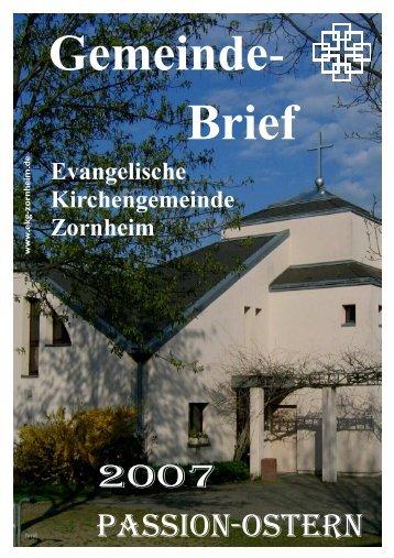 Passion 2007 - Ev. Kirchengemeinde Zornheim