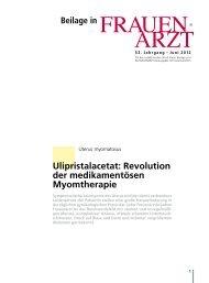 Revolution der medikamentösen Myomtherapie - bei medical ...