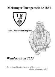 Wanderprogramm 2013 (.pdf) - Lauftreff - Melsungen
