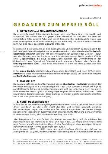 Beschreibung MPREIS Söll von Architekt Peter LORENZ Einige ...