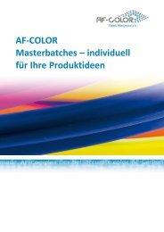 AF-COLOR Masterbatches – individuell für Ihre Produktideen