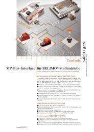 Controls MP-Bus-Interface für BELIMO®-Stellantriebe