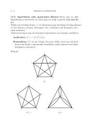(3.7) Algorithmus (alle spannenden Bäume) Wenn man an allen ...