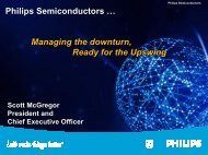 Managing the downturn, Ready for the Upswing - Philips