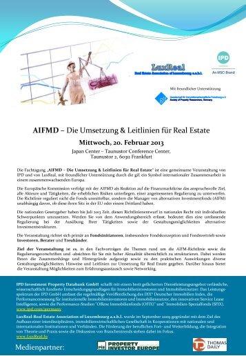 Fachtagung AIFMD - FFM - Immoebs