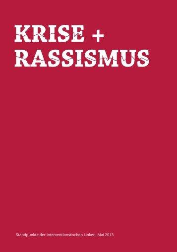 Krise + rassismus