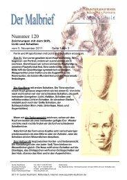 Zeichnungen von Licht und Schatten mit dem ... - Gunter Kaufmann