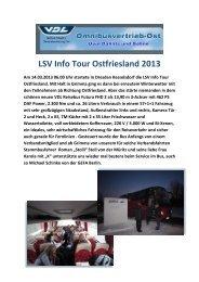 LSV Info Tour Ostfriesland 2013 - Omnibusvertrieb Ost