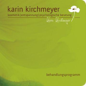 Kosmetik-Behandlungsprogramm - karin-kirchmeyer.de