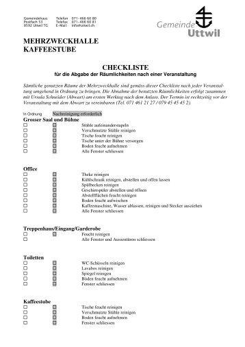 Frühjahrsputz Checkliste checkliste endreinigung gästehaus schwendihütte hof maiezyt