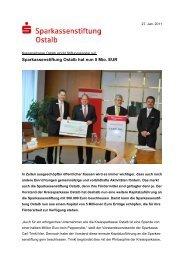 Sparkassenstiftung Ostalb hat nun 5 Mio. EUR - Kreissparkasse Ostalb