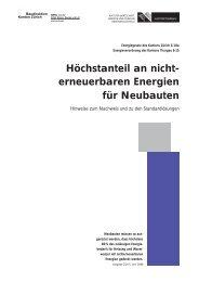 Höchstanteil an nicht- erneuerbaren Energien für Neubauten