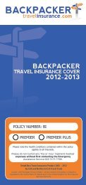 BACKPACKERUSA - Backpacker Travel Insurance