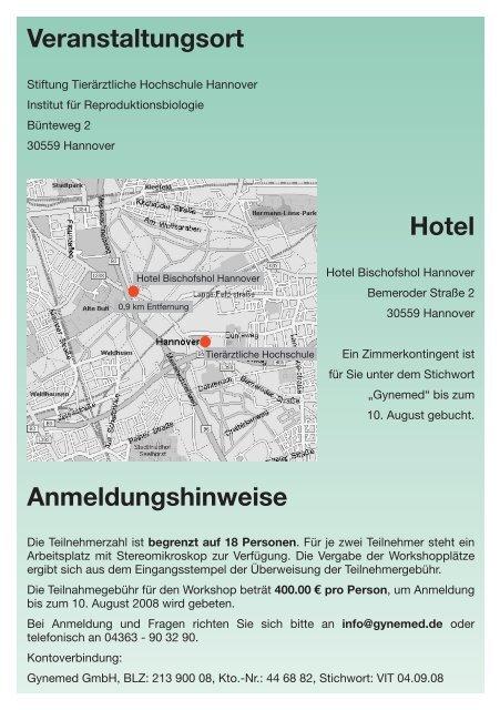 Gynemed Symposium 2008: Vitrifikation: Hands on Workshop mit ...