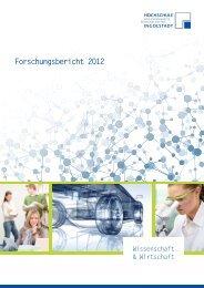 Forschungsbericht 2012 - Hochschule Ingolstadt