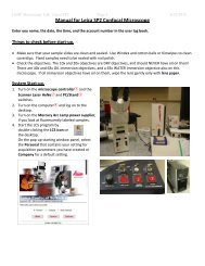Manual for Leica SP2 Confocal Microscope