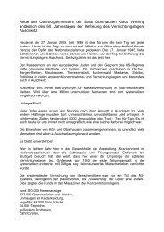 Rede des Oberbürgermeisters der Stadt Oberhausen Klaus Wehling ...