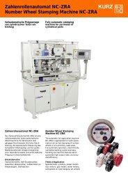 Zahlenrollenautomat NC-ZRA Number Wheel ... - Leonhard Kurz
