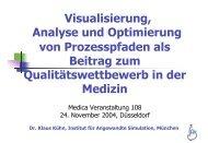 Visualisierung, Analyse und Optimierung von Prozesspfaden als ...