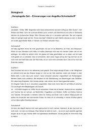 """Textbuch """"Verspiegelte Zeit – Erinnerungen von Angelika ..."""