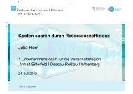 Kosten sparen durch Ressourceneffizienz Julia Herr - Dessau-Roßlau ...