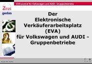 (EVA) für Volkswagen und AUDI - Gruppenbetriebe