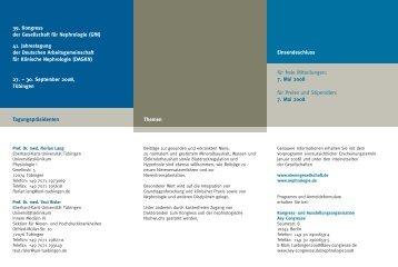 39. Kongress der Gesellschaft für Nephrologie (GfN ... - Hippokratest