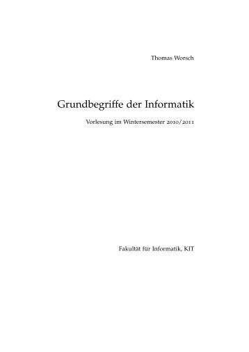Skript - Grundbegriffe der Informatik