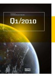 Roth & Rau AG Zwischenbericht zum 31. März 2010