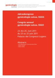 Abstractband 2011 - Jahreskongress gynécologie suisse, SGGG