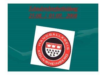 Fortbildung August 2008.pdf - Handballkreis Köln/Rheinberg