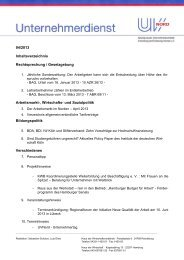 04/2013 Inhaltsverzeichnis Rechtsprechung / Gesetzgebung ...