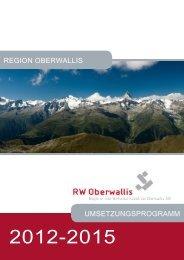 Umsetzungsprogramm 2012-2015 - RW Oberwallis
