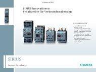 Sirius Innovationen - Schaltgeräte für Verbraucherabzweige 2010