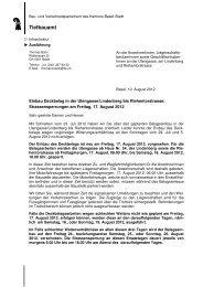 Anwohnerschreiben vom 10.08.2012 - Tiefbauamt - Basel-Stadt