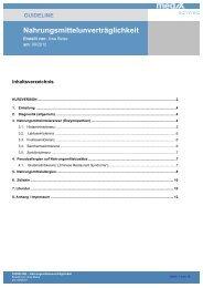 GL Nahrungsmittelunverträglichkeit Endversion - mediX schweiz