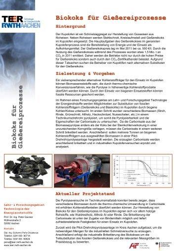 Projektflyer - Lehr- und Forschungsgebiet Technologie der ...