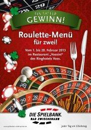 Roulette-Menü - Hotel Voss - Westerstede