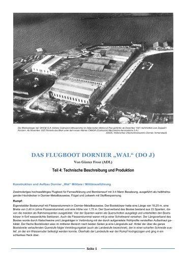 Teil 4 Technische Beschreibung und Produktion. - bei der ...