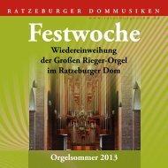 Festschrift 2013 - Der Ratzeburger Dom