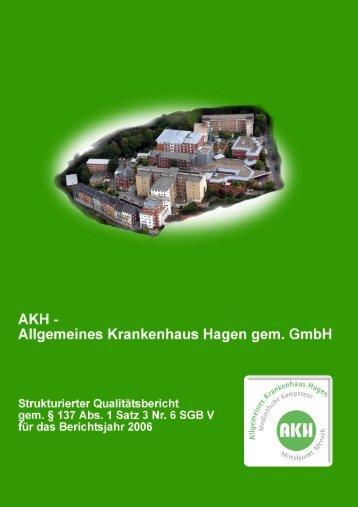 Qualitätsbericht 2006 - im Allgemeinen Krankenhaus Hagen