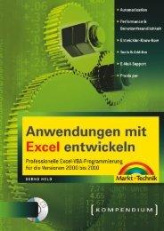 Anwendungen mit Excel entwickeln  - *ISBN ...