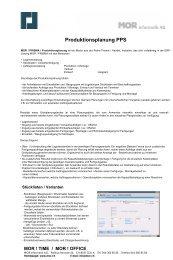 Produktionsplanung PPS - MOR Informatik AG