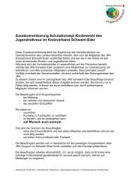 Zusatzvereinbarung des Kreisverbandes - JRK: Schwalm-Eder