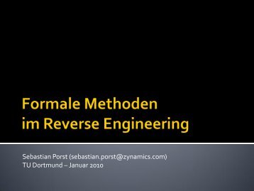 Formale Methoden im Reverse Engineering - Zynamics